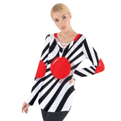 Abstract red ball Women s Tie Up Tee