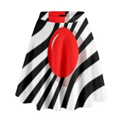 Abstract Red Ball High Waist Skirt
