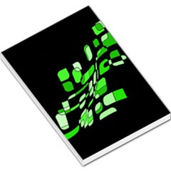Green decorative abstraction Large Memo Pads