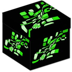 Green decorative abstraction Storage Stool 12