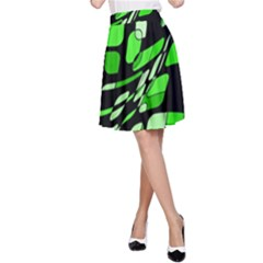 Green decorative abstraction A-Line Skirt