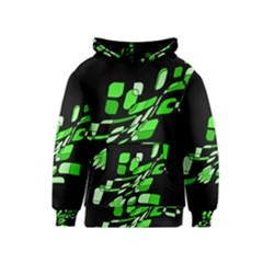 Green decorative abstraction Kids  Pullover Hoodie