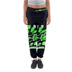 Green decorative abstraction Women s Jogger Sweatpants
