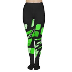 Green Decorative Abstraction Women s Tights