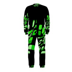 Green decorative abstraction OnePiece Jumpsuit (Kids)