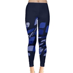 Blue abstraction Leggings