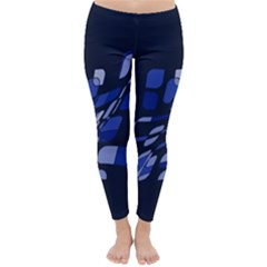 Blue abstraction Winter Leggings