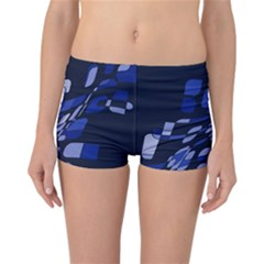 Blue abstraction Reversible Boyleg Bikini Bottoms