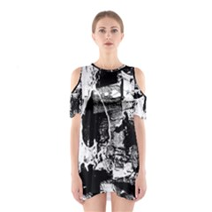 Grunge Skull Cutout Shoulder Dress