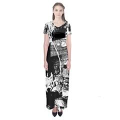 Grunge Skull Short Sleeve Maxi Dress