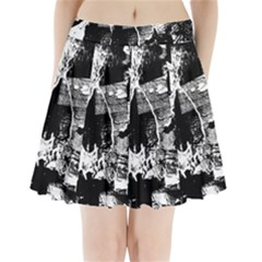 Grunge Skull Pleated Mini Mesh Skirt