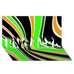 Colors of 70 s ENGAGED 3D Greeting Card (8x4)