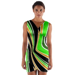 Colors of 70 s Wrap Front Bodycon Dress