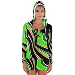 Colors of 70 s Women s Long Sleeve Hooded T-shirt