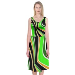 Colors of 70 s Midi Sleeveless Dress