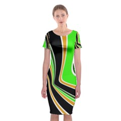 Colors Of 70 s Classic Short Sleeve Midi Dress