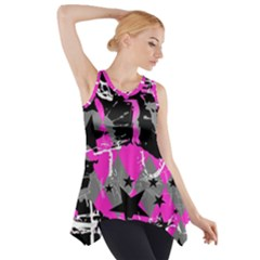 Pink Scene Kid Side Drop Tank Tunic