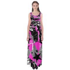 Pink Scene Kid Empire Waist Maxi Dress