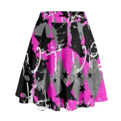 Pink Scene kid High Waist Skirt