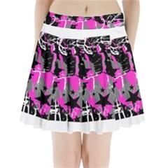 Pink Scene Kid Pleated Mini Mesh Skirt