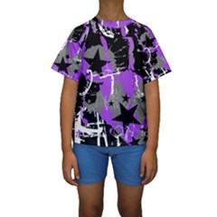 Purple Scene Kid Kid s Short Sleeve Swimwear