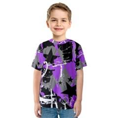 Purple Scene Kid Kid s Sport Mesh Tee