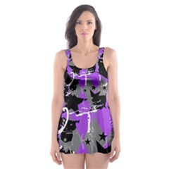 Purple Scene Kid Skater Dress Swimsuit