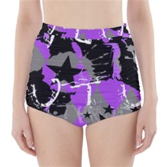 Purple Scene Kid High Waisted Bikini Bottoms