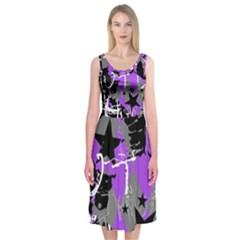 Purple Scene Kid Midi Sleeveless Dress