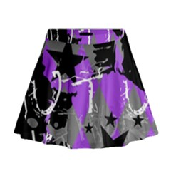 Purple Scene Kid Mini Flare Skirt