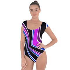 Colors Of 70 s Short Sleeve Leotard