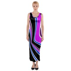 Colors of 70 s Fitted Maxi Dress