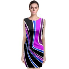 Colors Of 70 s Classic Sleeveless Midi Dress