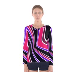 Colors of 70 s Women s Long Sleeve Tee