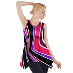 Colors of 70 s Side Drop Tank Tunic