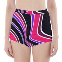 Colors of 70 s High-Waisted Bikini Bottoms