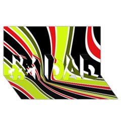 Colors of 70 s #1 DAD 3D Greeting Card (8x4)