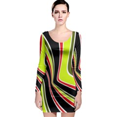 Colors of 70 s Long Sleeve Bodycon Dress
