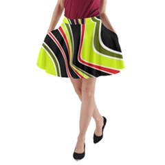 Colors of 70 s A-Line Pocket Skirt