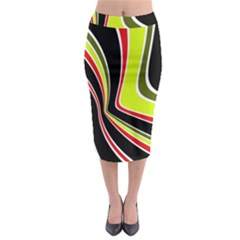 Colors Of 70 s Midi Pencil Skirt