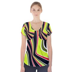 Colors Of 70 s Short Sleeve Front Detail Top