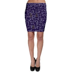 Cat And Moons For Halloween  Bodycon Skirt