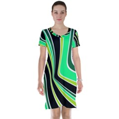 Colors of 70 s Short Sleeve Nightdress