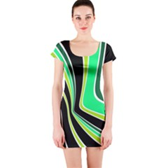 Colors of 70 s Short Sleeve Bodycon Dress