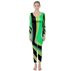 Colors of 70 s Long Sleeve Catsuit