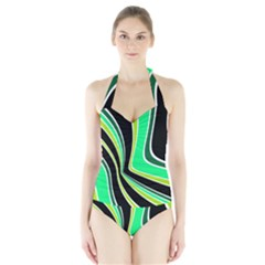 Colors Of 70 s Halter Swimsuit