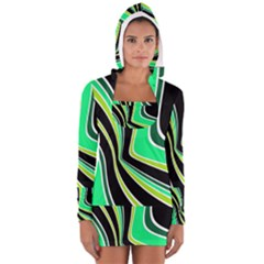 Colors Of 70 s Women s Long Sleeve Hooded T Shirt
