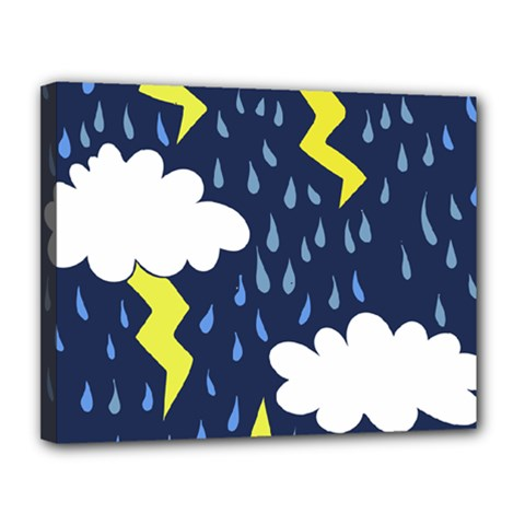 Thunderstorms Canvas 14  x 11