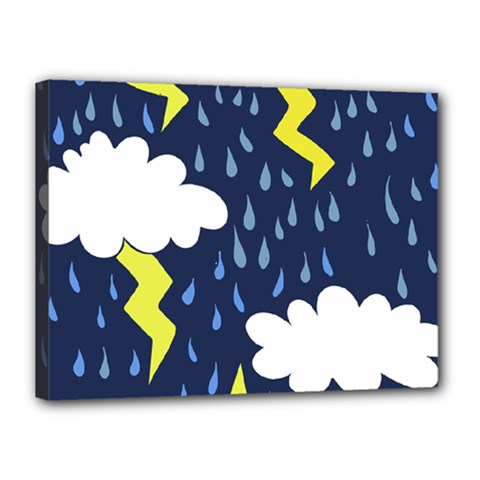 Thunderstorms Canvas 16  X 12