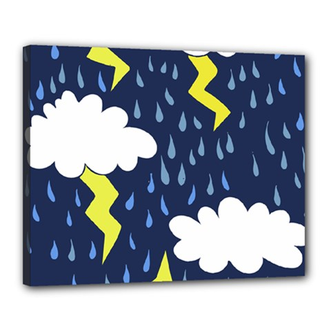 Thunderstorms Canvas 20  X 16